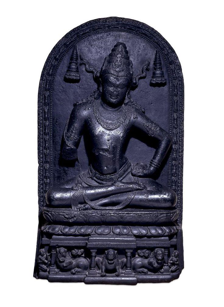 COMPASS Title: Stone relief of Vajrasattva