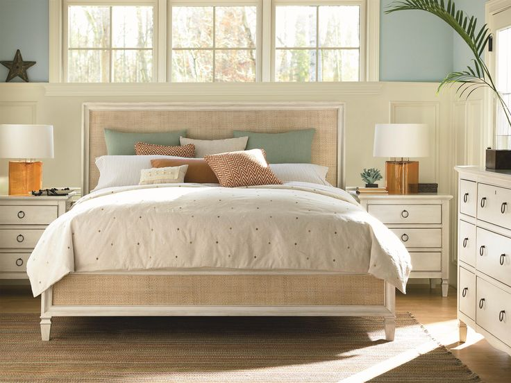 Universal Summer Hill 987210b Queen Woven Accent Bed Baer S Furniture Headboard Footboard Boca