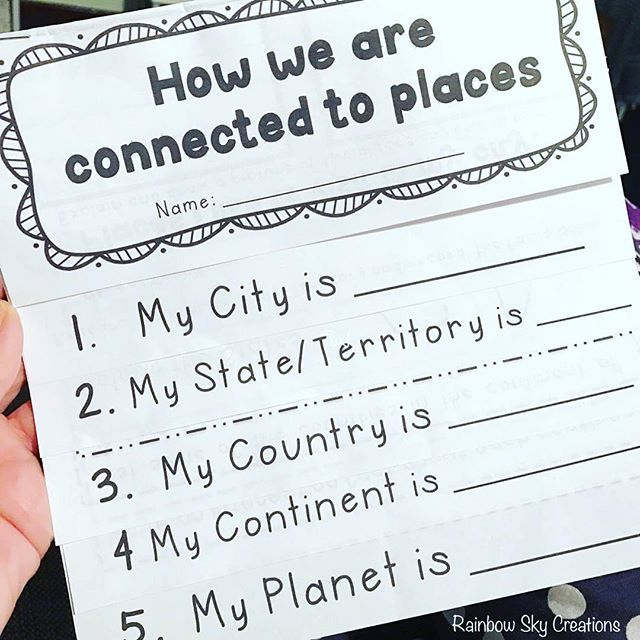 Geography Flipbook - The aim of this resource is for students to identify the connection between places. It is broken into 5 parts, beginning first in their city, then followed by students state/territory, country, continent and finally planet, where students research an interesting fact about each continent. This activity aims to further develop students knowledge and understanding, as well as greater, development of students inquiry skill, such as researching expectations in Year 2.