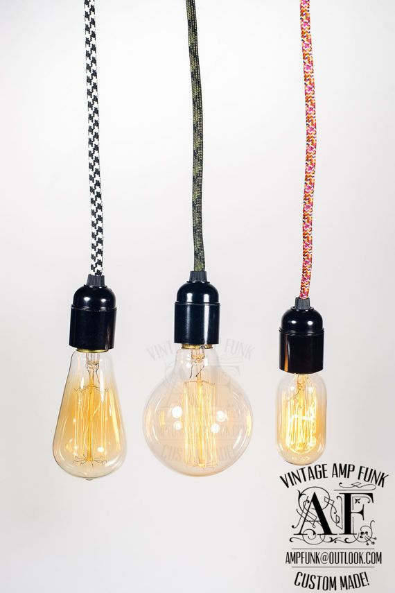 Versatile Edison bare bulb pendant light by VintageAmpFunk on Etsy & 653 best Pendant light images on Pinterest | Pendant lights ... azcodes.com