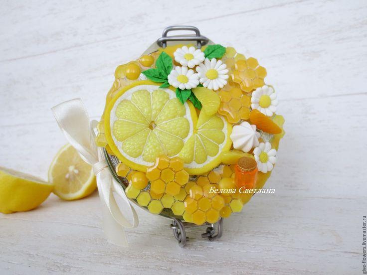 Купить Баночка для мёда - желтый, баночка с декором, баночка для меда, медовый декор, декор посуды