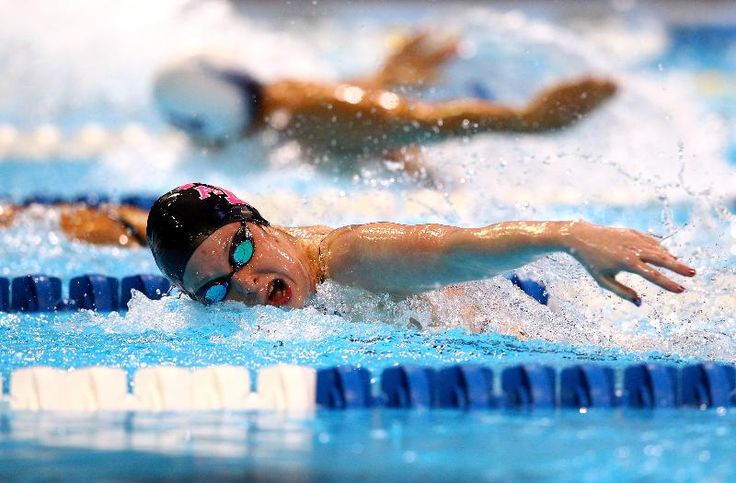 Cammile Adams is the top seed in the women's 200m butterfly final with a time of 2:08.07.