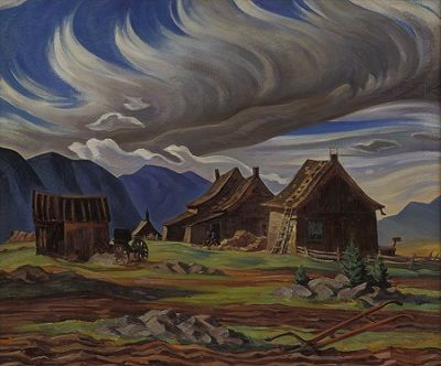 George Pepper, Old Barn, Québec, 1937, oil on canvas, Firestone Collection of Canadian Art, The Ottawa Art Gallery: Donated to the City of Ottawa by the Ontario Heritage Foundation, 1974.