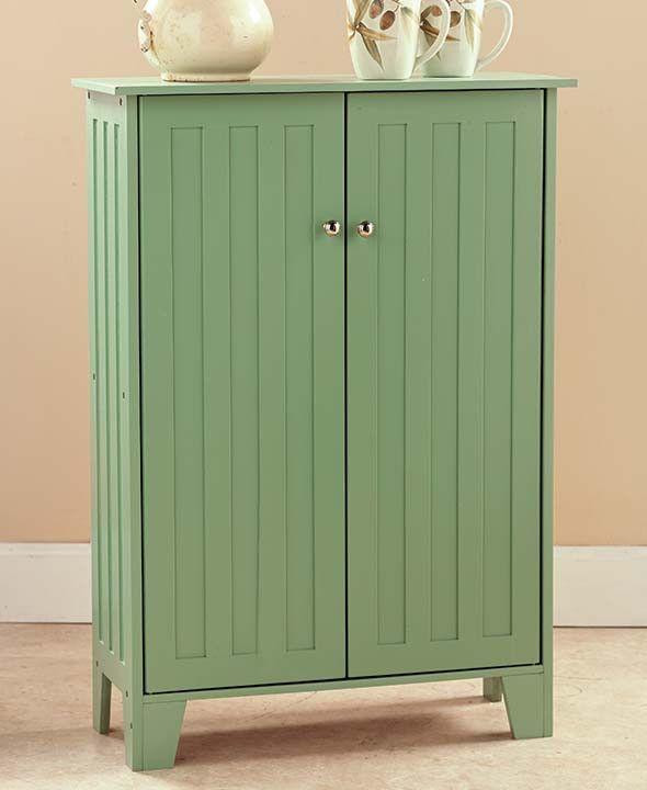 Beadboard Storage Cabinets | Beautiful Bathrooms