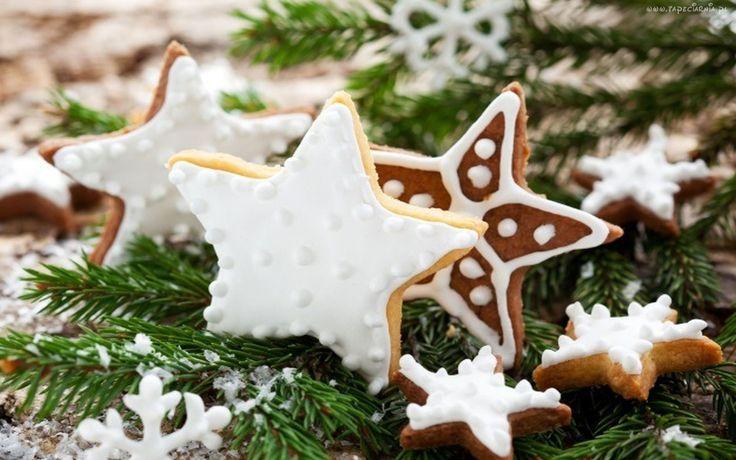 Świąteczne, Lukrowane, Ciastka