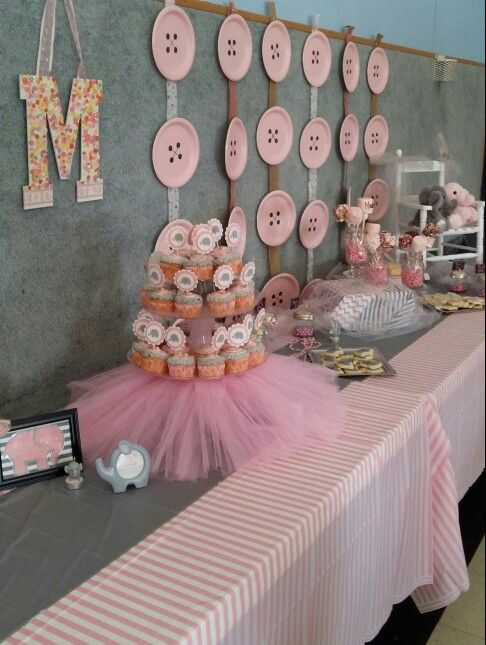 19 Best Pink And Gray Elephant Baby Shower Images On Pinterest