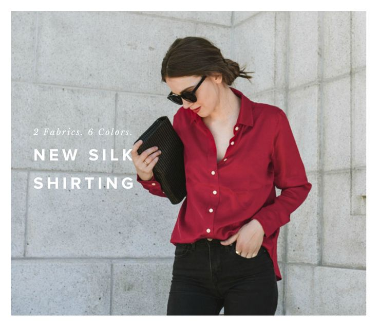 It has been years in the making! We are happy to announce our new silk shirting! Now available in 2 fabrics & 6 colors!