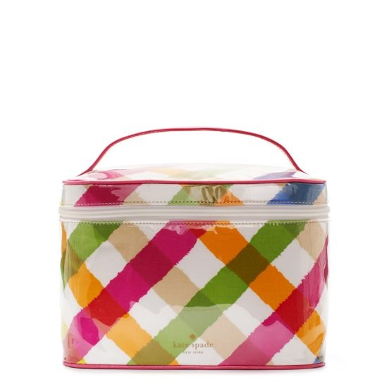 Pretty cosmetic train case.  kate spade | designer cosmetic bags - sunnyside large natalie