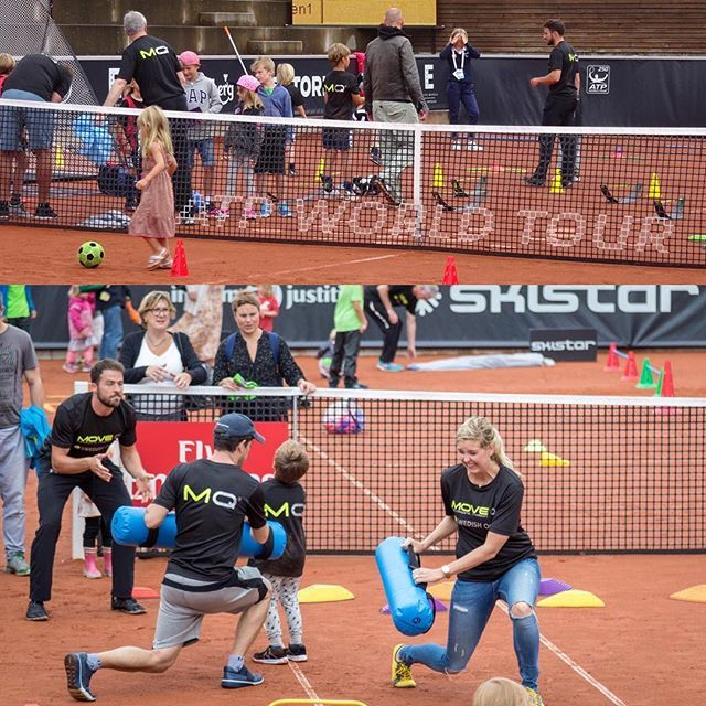 MoveQ at Swedish Open, ATP & WTA tennis tournament Kids Day in Båstad, Sweden 2016. A great way to bond with your child is to participate :). #moveq #mq #3dfunction #feelbetter #movebetter #performbetter #move #learn #grow #live #playful #fun #challenge #success #fun2move #cool2move #master2move #motordevelopment #cognitivedevelopment #scientificbased #measurable #head #ultimateinstability #coretex #plyosteps #moveqboard #pelvicore #procedosplatform9 #lagardère #tennis