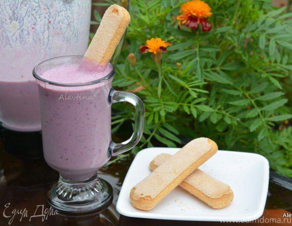 Ягодный смузи с рикоттой  Быстрый в приготовлении, полезный завтрак с ягодами и рикоттой. Подойдут как свежие ягоды, так и замороженные. Угощайтесь вкусным смузи и балуйте своих близких! #готовимдома #едимдома #кулинария #домашняяеда #завтрак #смузи #ягодный #рикотта #полезно #вкусно #витамины #готовимсудовольствием #побалуйтесебя