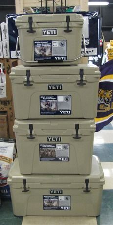 We have Yeti coolers in all sizes! Perfect for anyone! # ...