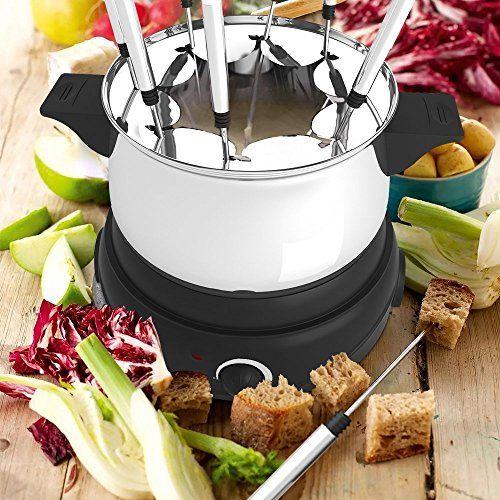 Meykey Appareil à Fondue Electrique 1500W, 1,2L: Appareil à fondue est idéal pour l'huile, le chocolat, la fondue chinoise ou au fromage.…