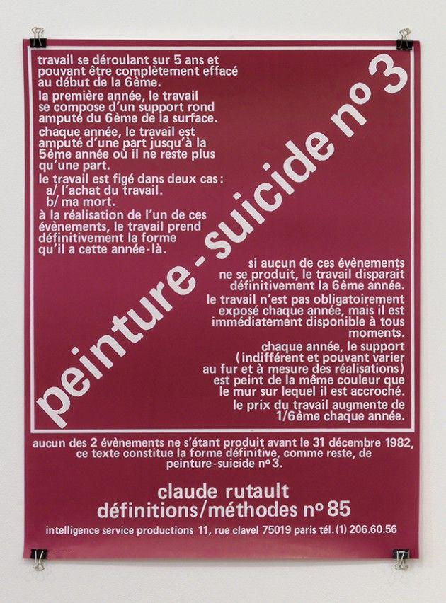 Claude Rutault // Peinture suicide # 3 (red)