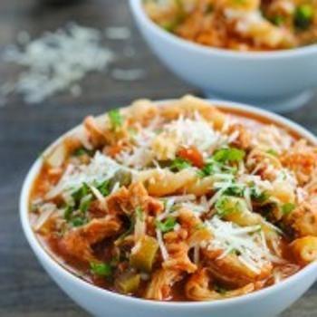 Slow Cooker Chicken Parmesan Soup Recipe