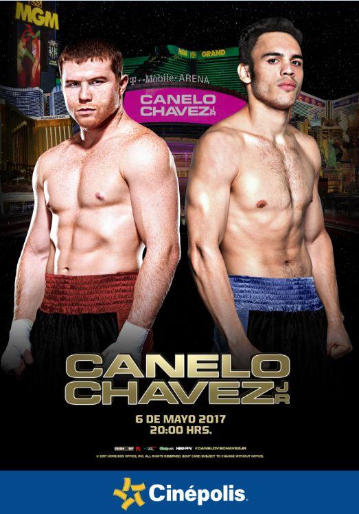 La pelea de Canelo vs Chávez Jr en será transmitida en directo desde la T-Mobile Arena de Las Vegas en más de 150 salas en 68 ciudades del país.