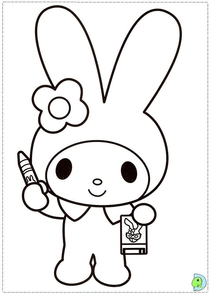 Hello Kitty Coloring Pages With Crayons : Best hello kitty coloring pictures images on pinterest