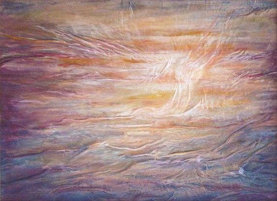 Sunset Painting Ocean Landscape Purple Blue See by AnnaKisArt #abstract, #leatherpainting, #oceanlandscape, #leathergift, #oceanpainting, #sunsetpainting, #christmasgift, #homedecor, #giftforhome, #purplepainting, #wallart, #seepainting, #weddinggift, #anniversarygift,