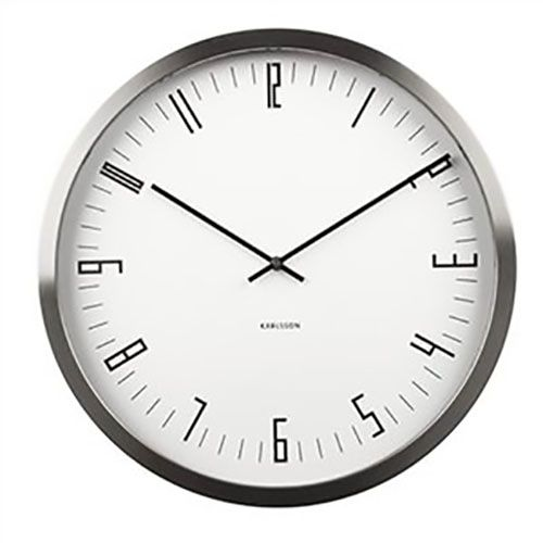 The new Cased Index Wall Clock in steel and white by Karlsson will be available at Contemporary Pieces Australia for $159.  Suites a range of interiors from modern to classic.  Order yours today to avoid missing out.