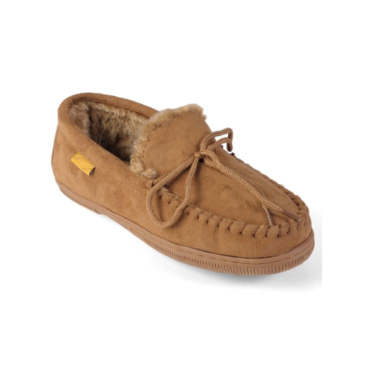 Oxford and Finch Men's Moccasin Slippers, Size: medium (11), Brown