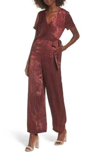 Free shipping and returns on J.O.A. Stripe Jumpsuit at Nordstrom.com. Sleek and stunning, this striped jumpsuit cut from lustrous satin makes a chic alternative to your usual wardrobe routine.