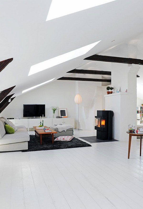attic idea-make into family room/ master suit ??Thats just cool