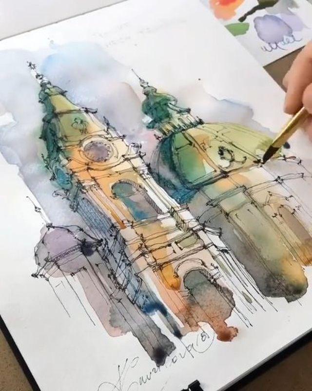 Watercolor Art On Instagram Watercolor By Nickvrunge