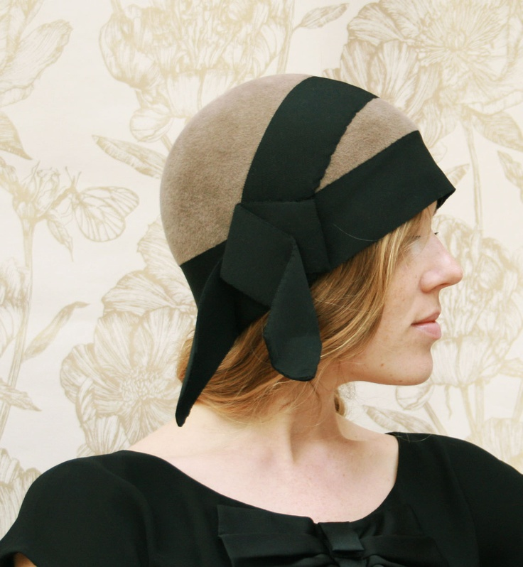 Cloche Hat Vintage style 1920's by MMmilliner on Etsy, £185.00