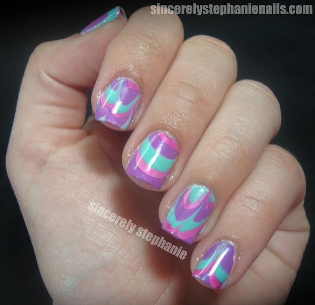 12 best Nail Art - Water Marble Manicure images on Pinterest | Water ...
