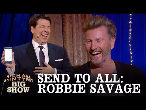 Hilarious: Michael McIntyre plays Send To All with Robbie Savages phone (Video)