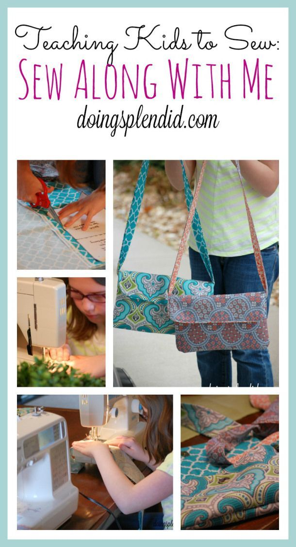 """Teaching kids to sew can be so much fun! Our daughter has been learning how to sew and one of my favorite ways to teach sewing is by having """"Sew Along with Me"""" sessions. :) http://doingsplendid.com"""