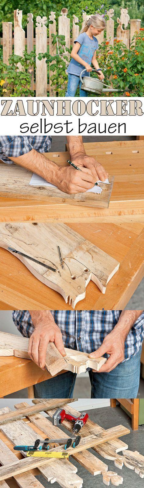 Zaun individuell gestalten – mit Zaunhockern. Wir zeigen Schritt für Schritt, wie du einen Holzzaun mit Zaunhockern bauen kannst. Sieht doch viel schöner aus als ein simpler Lattenzaun.