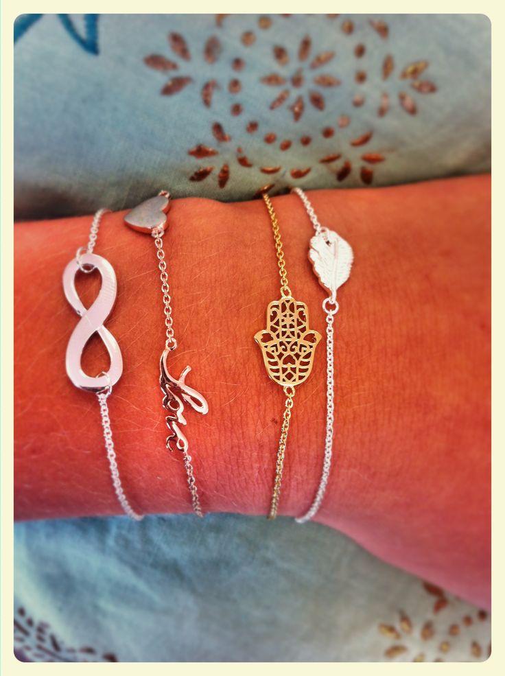 Bracelets Heart to Get #infinity #love #hearttoget #bracelet