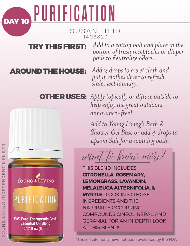 17 Best Ideas About Young Living Purification On Pinterest