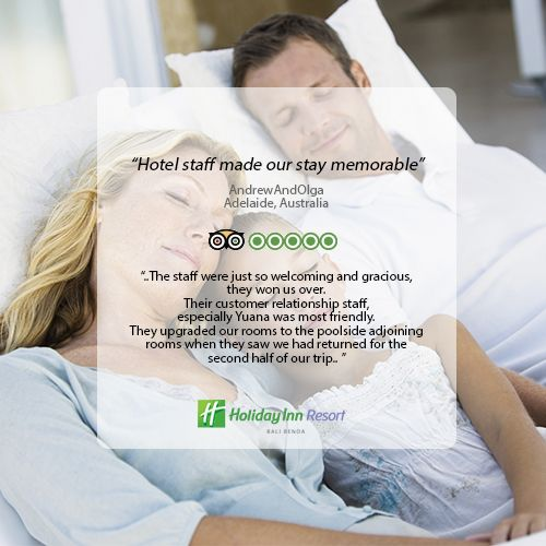 Thank you for giving us 5 star review on Tripadvisor. It is a pleasure to know our guest love and satisfied with our resort and service!  #holidayinn #holidayinnbalibenoa #resortbali #bali #hotelbali #travelling #travel #holiday #explorebali #balieveryday #bestvacation #vacation #balipromotion #2016 #igdaily #ihg #instagood #photooftheday #fun #love #beautiful #nice #beach #nusadua #tripadvisor