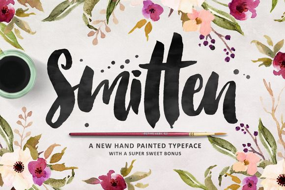 Smitten Script + Bonus Goodies! by MakeMediaCo. on Creative Market