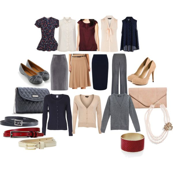 """Business casual capsule wardrobe"" by clockworklolita on Polyvore"