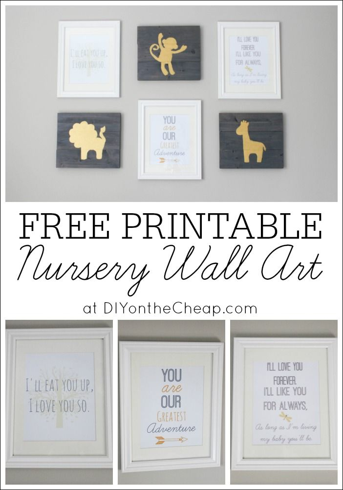 Baby Wall Designs boho woodland nursery Free Printable Nursery Wall Art