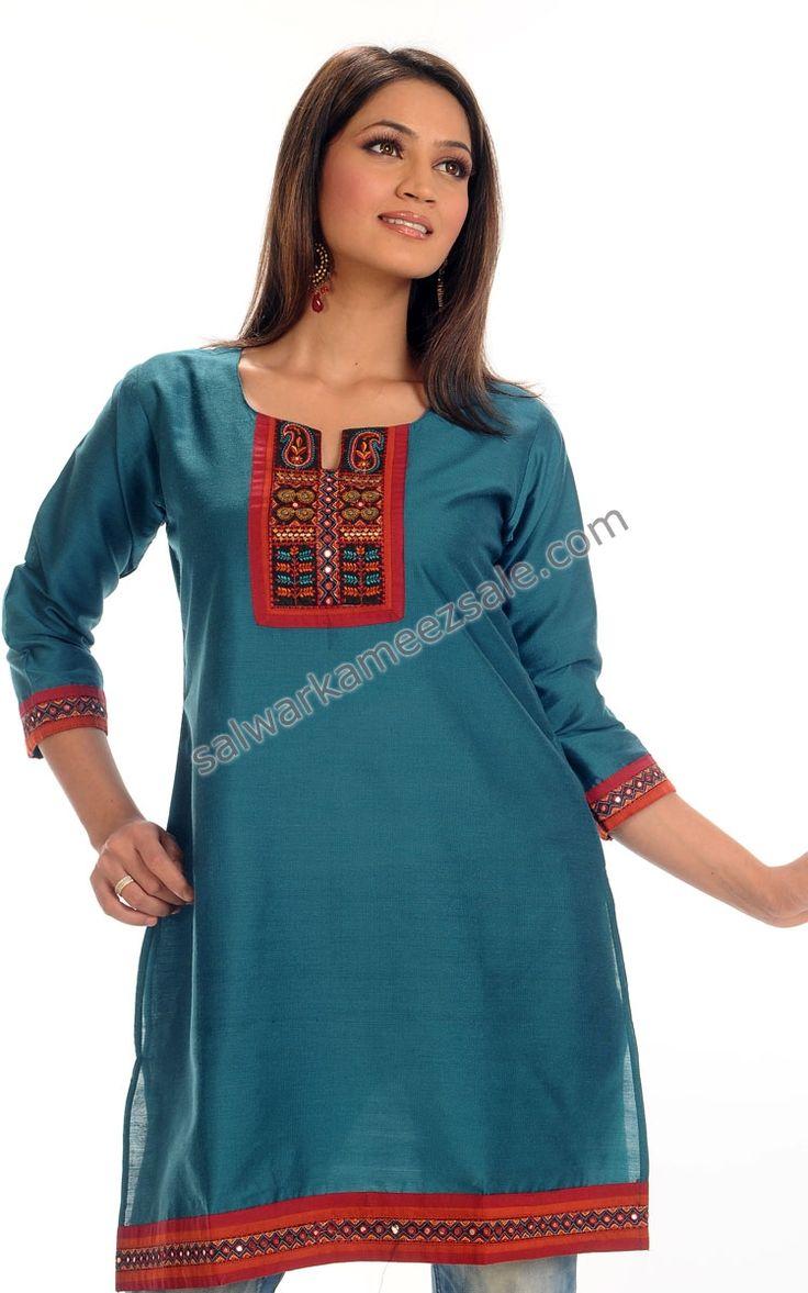 Indian Tunic and Kurtis - Designer Indian Kurtis-NOMK57