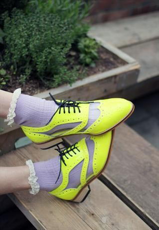 Neon / Transparent Oxford Shoes