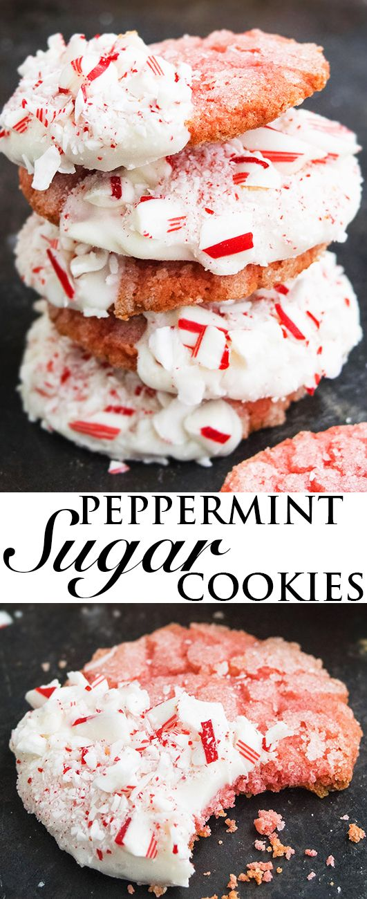 This rich and buttery WHITE CHOCOLATE PEPPERMINT COOKIES recipe is made from scratch. These peppermint sugar cookies are crispy and crackly on the outside but chewy on the inside. From cakewhiz.com