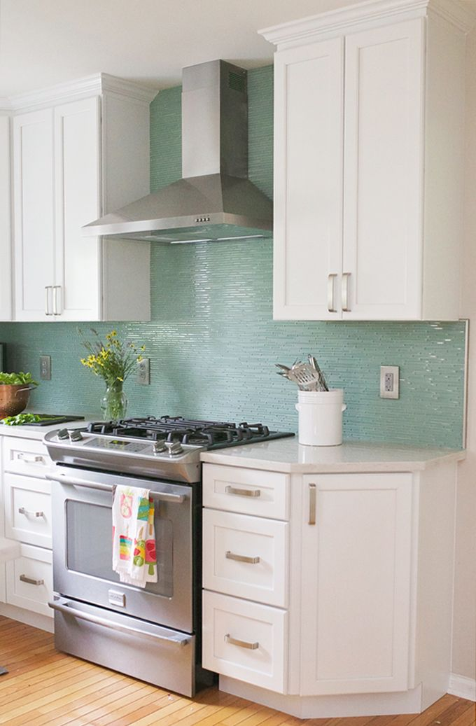 turquoise backsplash   Welcome to the Mouse House