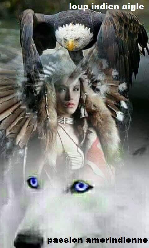 Tatouage Indien Aigle Loup Pret A Taux Zero