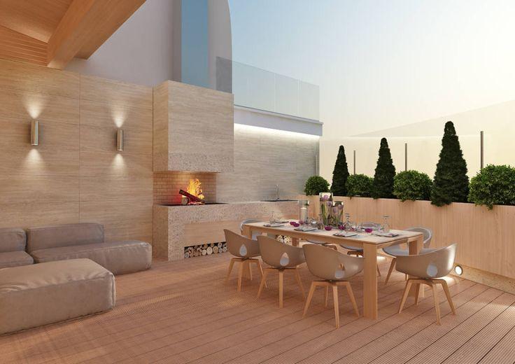 Терраса : Balcones y terrazas modernos de Rash_studio