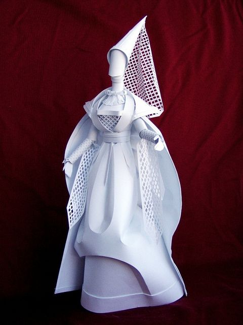 Gothic paper woman by all things paper, via Flickr
