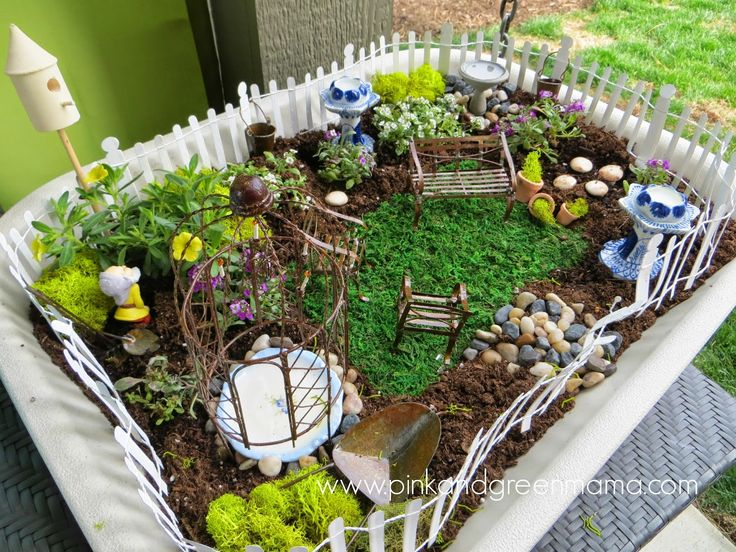 Kids Home Made Arts and Crafts by Pink and Geen Mama...Simple Fairy Garden for Kids