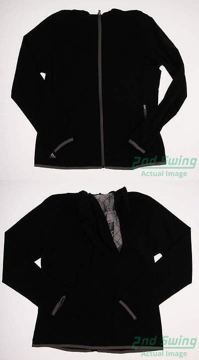 Other Womens Golf Clothing 181152: New Logoed Womens Adidas Golf Climastorm Rain Jacket Large Black Msrp $90 Ae9393 -> BUY IT NOW ONLY: $30.99 on eBay!