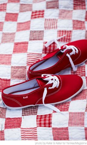 Red Keds: you've got to be kidding, I totally had a pair of these!  Wore them with my Coca Cola brand sweatshirt and I was ROCKING that look with my big bangs!  lol