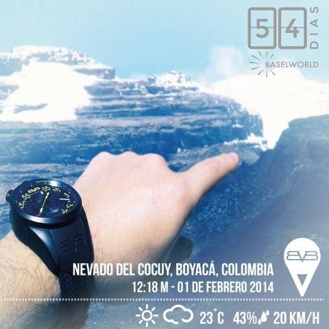 BOMBERG el mejor copiloto!⌚️ Hoy en #NevadoDelCocuy #Boyaca #Colombia #SeizeTheMoment #54DaysToGo #BASELWORLD2014