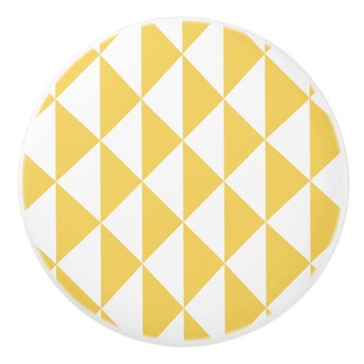 Primrose Yellow with White Coastal Geometric Arrow