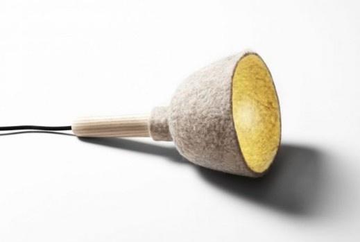 Kristina Kjaer's Delightful Felt Lamp, inspired by Woodland Fungi